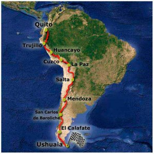 Bike-dreams Andes Trail route