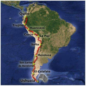 Bike-dreams route Andes trail